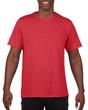 Men's Moisture Wicking Polyester Performance T-Shirt (Red)