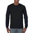 Men's Heavy Cotton Long Sleeve T-Shirt (Black)