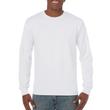 Men's Heavy Cotton Long Sleeve T-Shirt (White)