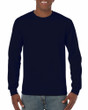 Men's Heavy Cotton Long Sleeve T-Shirt (Navy)