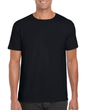 Men's Fitted Cotton T-Shirt (Black)