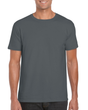 Men's Fitted Cotton T-Shirt (Charcoal)