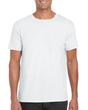Men's Fitted Cotton T-Shirt (White)