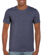Men's Fitted Cotton T-Shirt (Heather Navy)