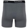 Men's Cotton Stretch Regular Leg Boxer Brief (Black Soot/Slate Blue/Grey Flannel)
