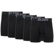 Men's Cotton Stretch Regular Leg Boxer Brief (Black Soot)