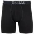 Men's Cotton Stretch Regular Leg Boxer Brief (Grey Flannel/Black Soot)