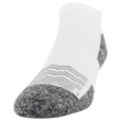 Men's Strategic Cushion No Show Sock (White/Merlot/Silver)
