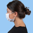 Gildan Reusable 3-Layer Self-Care Face Mask with Ear Loops (White)