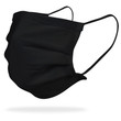 Gildan Reusable 3-Layer Self-Care Face Mask with Ear Loops (Black)