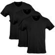Men's Cotton Stretch V-Neck T-Shirt (Black Soot)