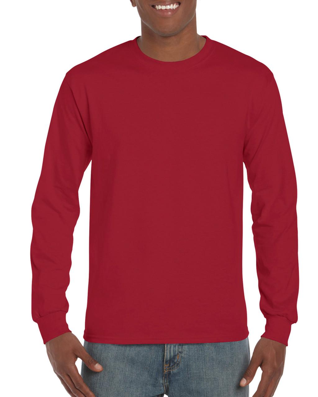 red t shirt long sleeve
