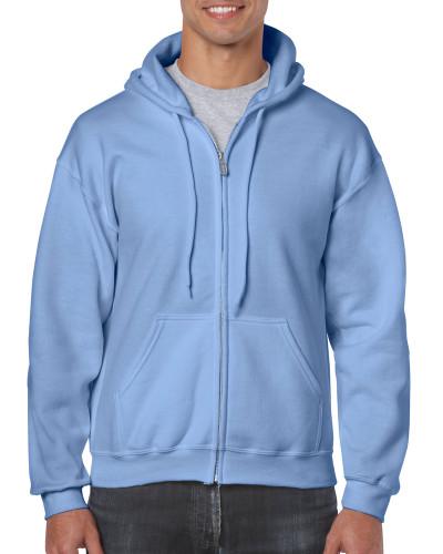 Men's Full Zip Hooded Sweatshirt (Carolina Blue)
