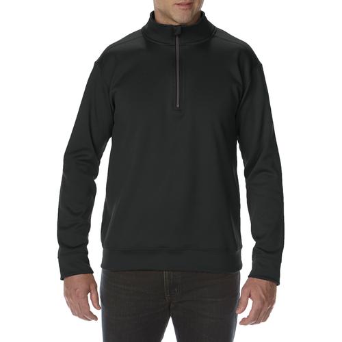 Performance Adult Tech 1/4 Zip Sweatshirt (Black)