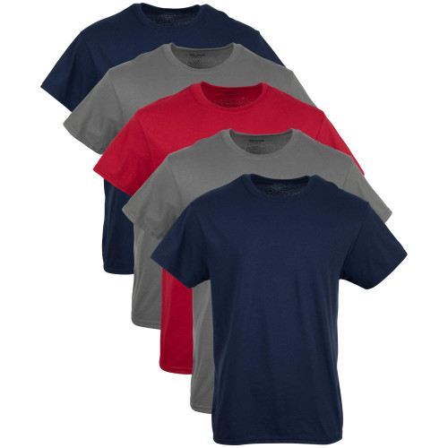 Men's Crew T-Shirt (Navy/Charcoal/Red)