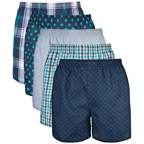 Men's Woven Boxer (Assorted Navy)