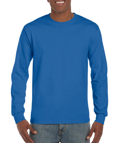 Men's Ultra Cotton Adult Long Sleeve T-Shirt (Royal)