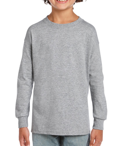 Kids' Ultra Cotton Youth Long Sleeve (Sport Grey)