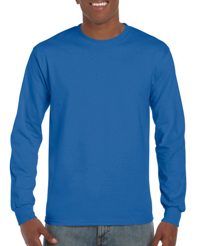 Men's DryBlend Adult Long Sleeve T-Shirt (Royal)