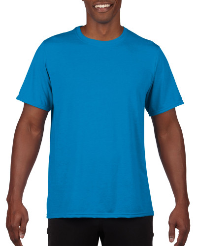 Men's Moisture Wicking Polyester Performance T-Shirt (Royal)