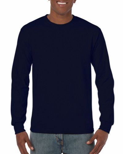 Men's Heavy Cotton Long Sleeve T-Shirt (Navy)