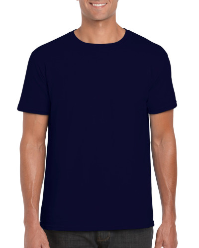Men's Fitted Cotton T-Shirt (Navy)