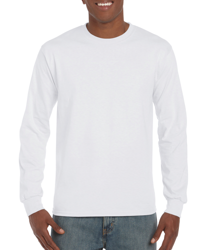 Gildan Hammer® Men's Adult Long Sleeve T-Shirt (White)