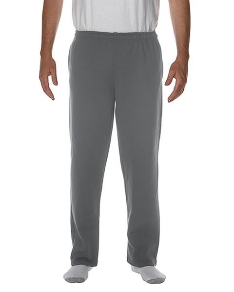 Men's Open Bottom Pocketed Sweatpant (Dark Heather)