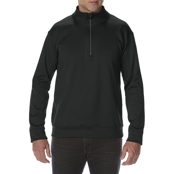 Performance Adult Tech 1/4 Zip Sweatshirt (Black)