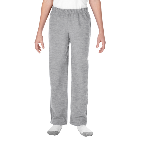 Youth Open Bottom Pocketed Sweatpant (Sport Grey)