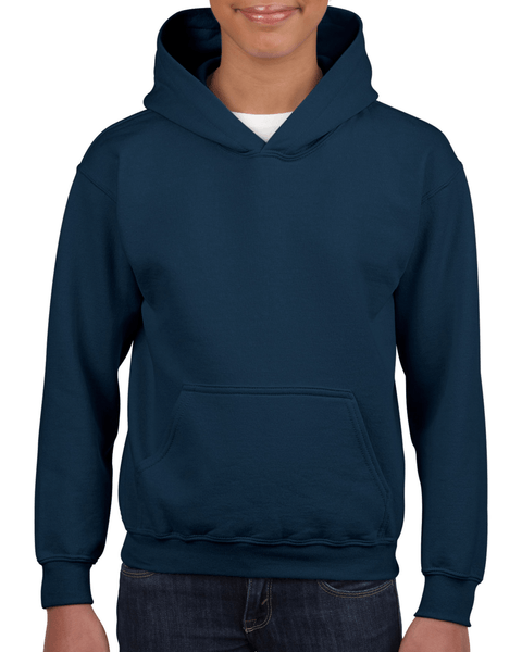 Youth Pullover Hooded Sweatshirt (Navy)