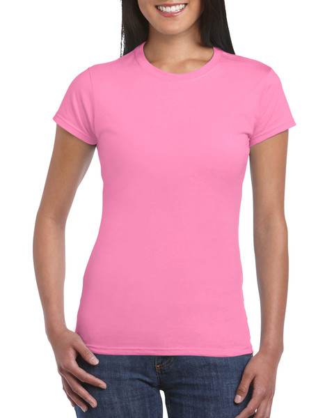 Women's Fitted Cotton T-Shirt (Azalea)