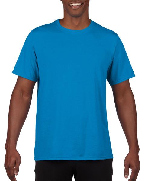 Men's Moisture Wicking Polyester Performance T-Shirt (Royal)