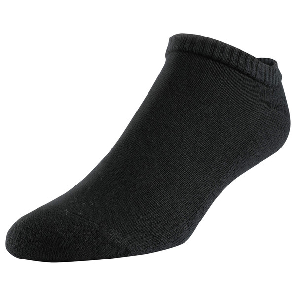 Men's Polyester Half Cushion No Show Socks