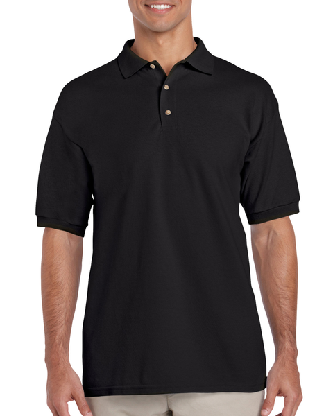 Men's Ultra Cotton Pique Sport Shirt (Black)