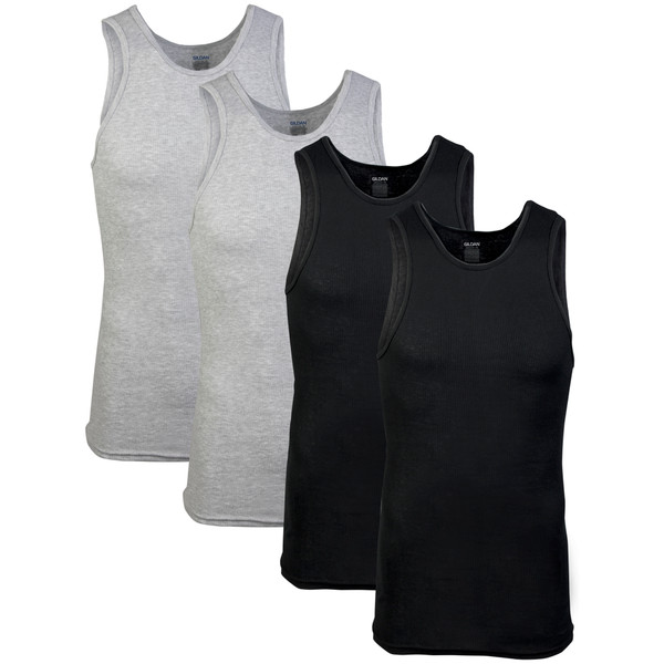 Men's Platinum A-Shirt (Black/Grey)