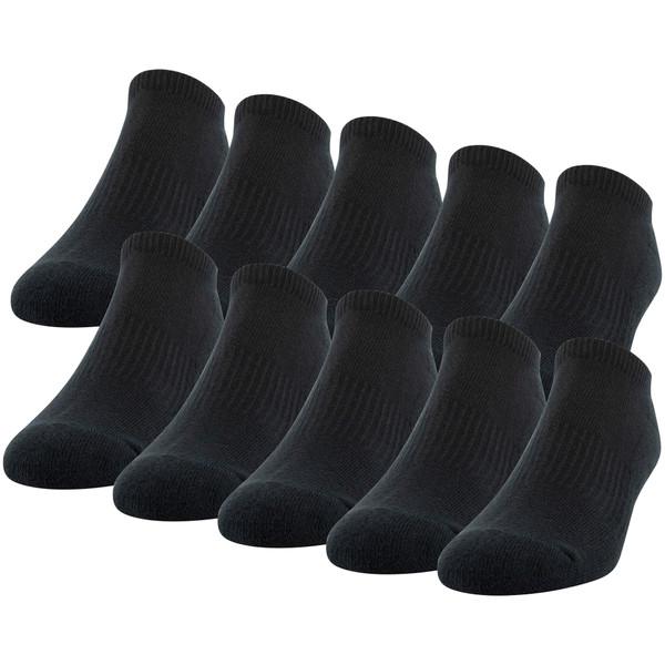 Men's Cotton No Show (Black)