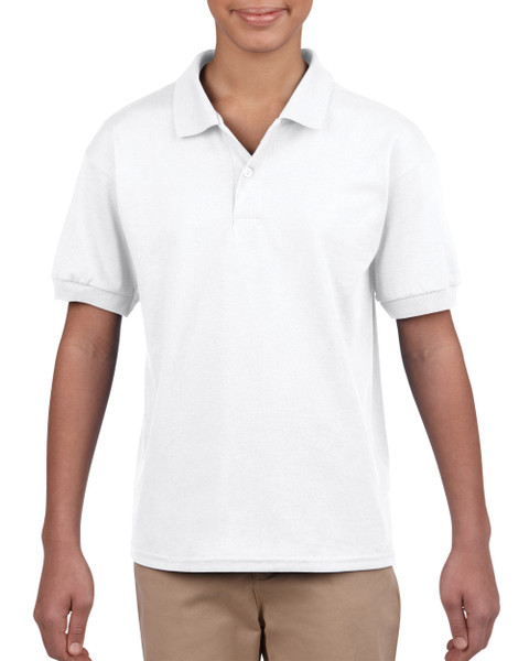 DryBlend® Youth Jersey Polo (2Pack) (White)