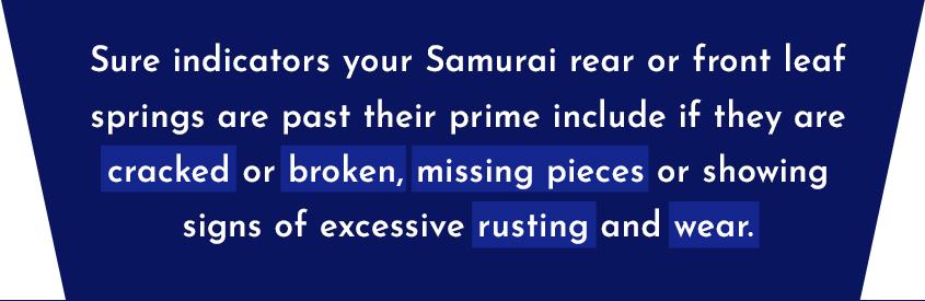 suzuki samurai leaf springs