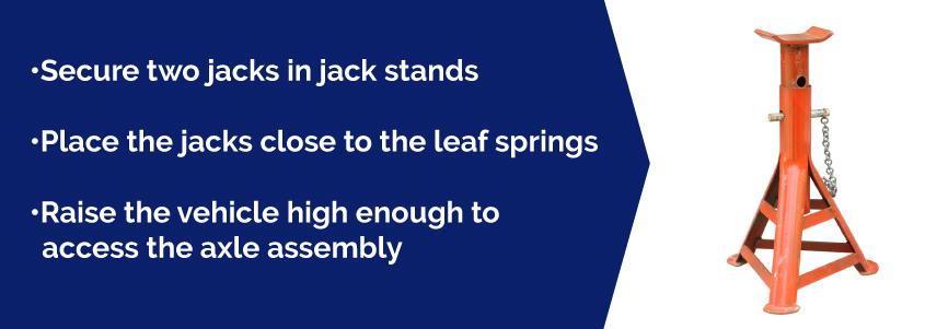 jack stand for leaf springs