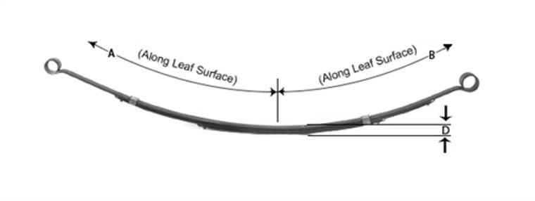 1962 - 1967 Chevy II Nova Leaf Spring - 3 leaf replacement for monoleaf