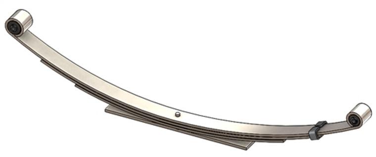 1995 - 2005 Blazer, Jimmy, Envoy, Bravada rear leaf spring, 4(3/1) leaves, 1400 lbs capacity