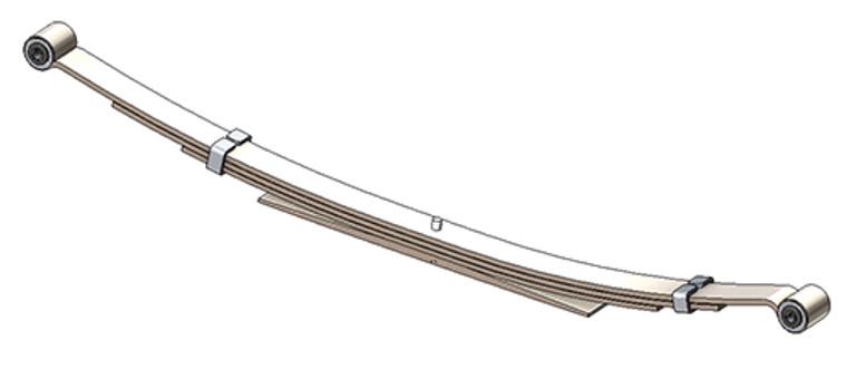 1995 - 2005 Astro / Safari rear leaf spring, 1410 lbs capacity, 4(3/1) leaf
