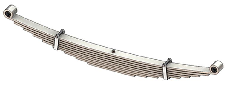 1996- 2018 GM G2500 / G3500 Savanna / Express Van rear leaf spring, 3710 lbs capacity, 9 leaves