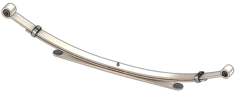 1999 - 2006 Chevy Silverado / GMC  Sierra 1500 rear leaf spring, 1500 lbs capacity, 3(2/1) leaves