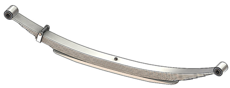 """1973 - 1987 GM 4x4 Pickup and Suburban (K10 / K20) rear leaf spring, 2775 lbs capacity, 7(6/1) leaves, 52"""" spring"""