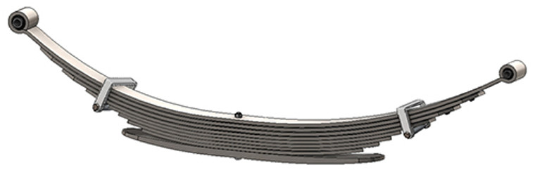 """Chevrolet / GMC Pick Up and Chevrolet Suburban rear leaf spring, 2600 lbs capacity, 9(8/1) leaves, 56"""" spring"""