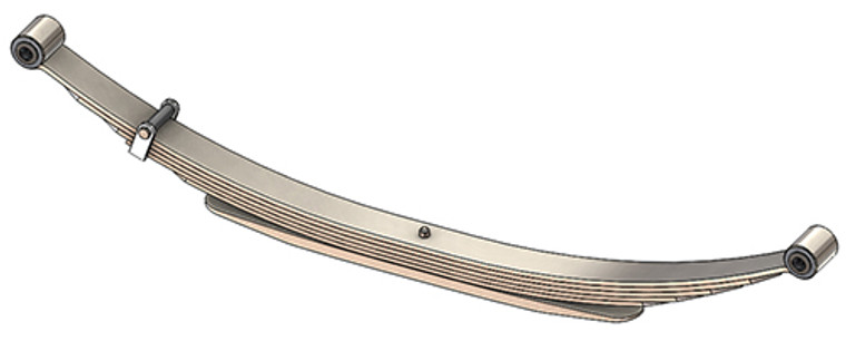 "1973 - 1987 GM 4x4 Pickup and Suburban (K10 / K20) rear leaf spring, 1875 lbs capacity, 6(5/1) leaves, 52"" spring"