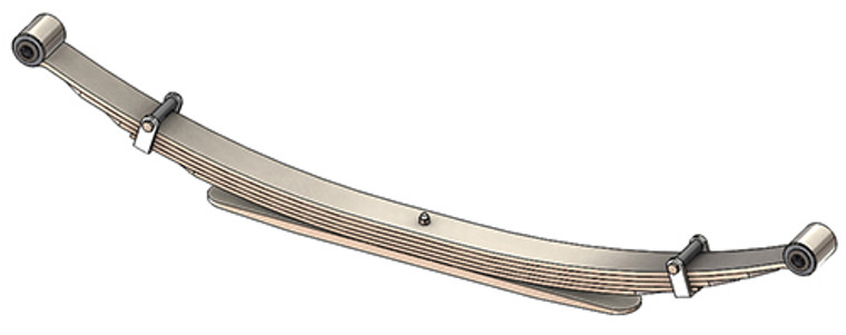 """1973 - 1987 GM 4x4 Pickup and Suburban (K10 / K20) rear leaf spring, 2200 lbs capacity, 6(5/1) leaves, 52"""" spring"""