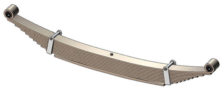 "1981 - 1991 GM 1 ton rear leaf spring, 4650 lbs capacity, 10(9/1) leaves, 56"" spring"